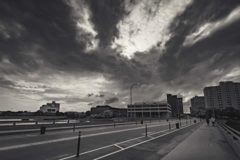 Downtown Rockford- Clouds