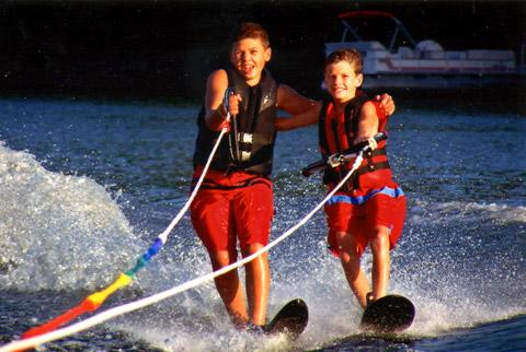 Boys water skiing