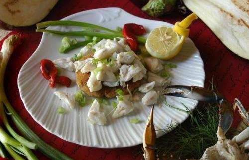 Andrea's eggplant crabcake