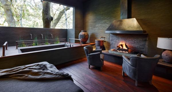 Meadowood Napa Valley Fireplace