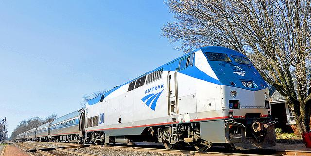 Amtrak Train in Roanoke
