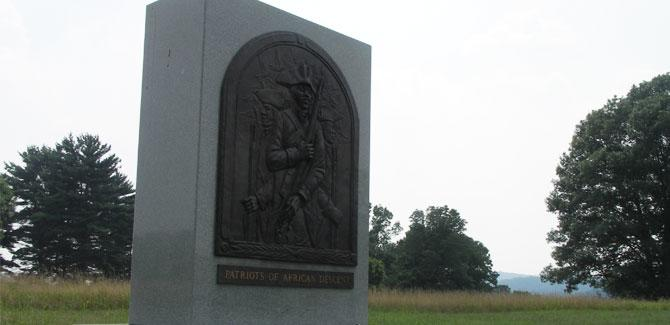 This Valley Forge monument, honoring Patriots of African Descent during the American Revolution, is just one of a number of Montgomery County, Pa., sites being highlighted by the VFTCB for Black History Month.