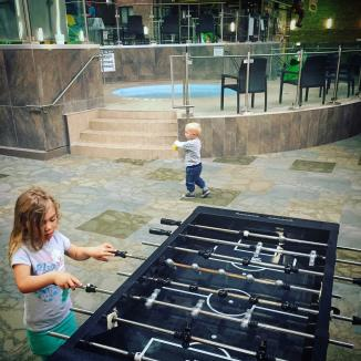 Ping pong and foosball are free to experiment with
