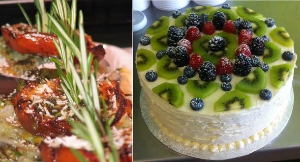 dish and dessert at serafina