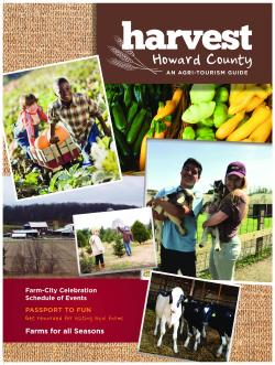 Cover of Harvest Howard County Magazine 2016