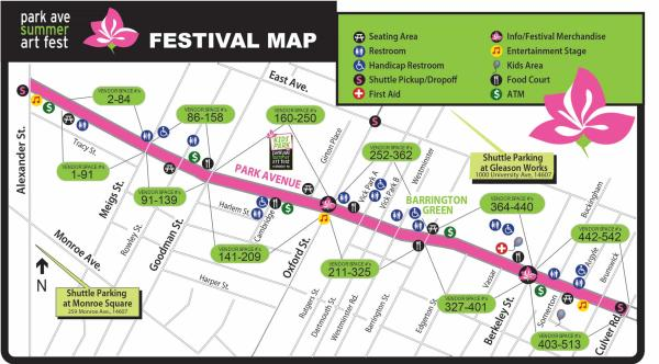 Park Ave Fest Map