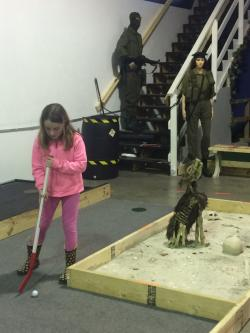 Apocalypse Putt Putt course offers family friendly lights on hours.