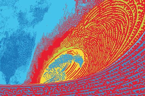 Pipeline Wave by John Van Hamersveld