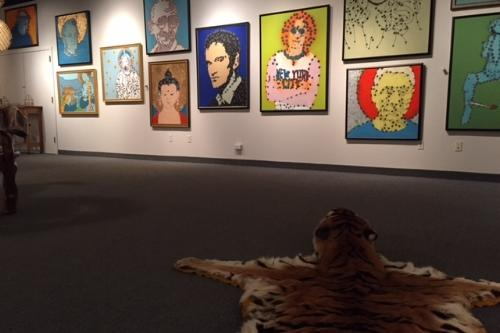 Original works of art floor to ceiling at Artisan Works in Rochester, NY