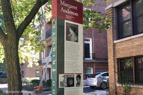 Margaret Anderson plaque in Chicago