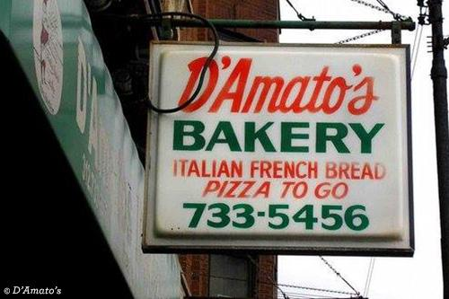 D'amato's Bakery sign