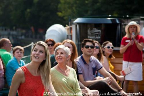 Passengers on a First Lady boat cruise