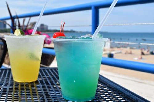 Tropical drinks at Castaways in Chicago