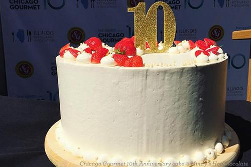 Mindy's HotChocolate 10th Anniversary cake for Chicago Gourmet
