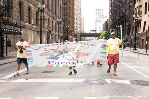 Disability Pride Parade Chicago participants