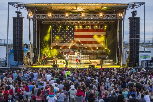 Live concert at Balloon Fiesta Park for Freedom Fourth