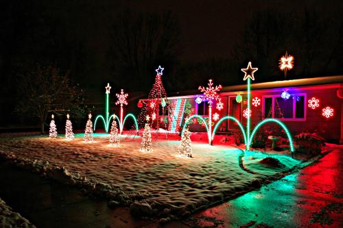 if you cant make your way to irvine park this holiday worry not as there are some houses right here in eau claire with light displays that are sure to - Local Christmas Lights Displays