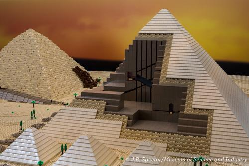 "Lego made ""Brick by Brick"" Pyramids at Museum of Science & Industry in Chicago"