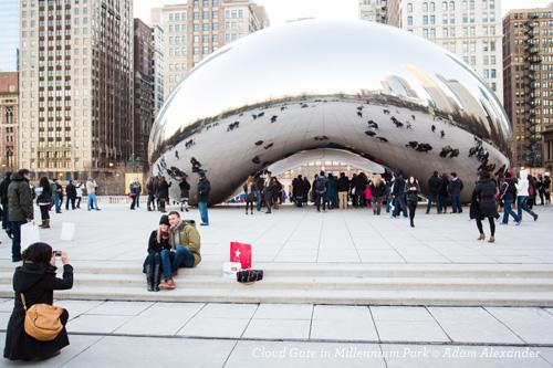 The Bean in Millennium Park,Chicago