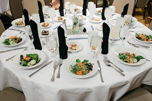 Table Setting at Economic Update Luncheon