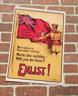WWI war propoganda on display at Royal Canadian Artillery Museum on CFB Shilo, Manitoba