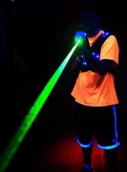 Xtreme Lazer Tag shooting laser