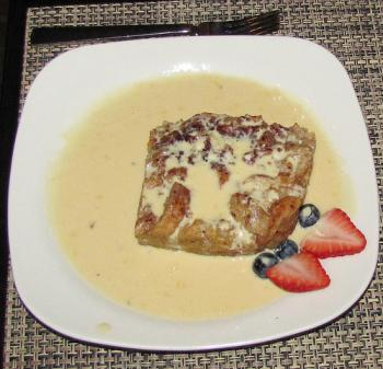 Bread Pudding at Bistro Abrego