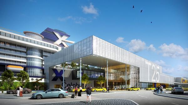 Image of the artist rendering for the redesign of cruise terminal 25.
