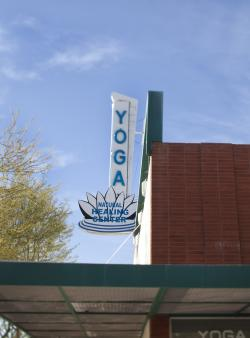 floating lotus sign