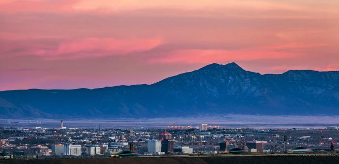 Albuquerque Skyline and Sunset
