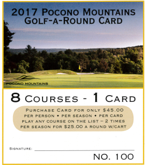 2017 Golf-A-Round Card