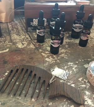 The Rugged Company beard oil and comb at Younique Culture