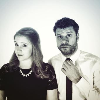 Comedians Stephen Sim and Caitlin Curtis