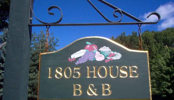 1803 House sign