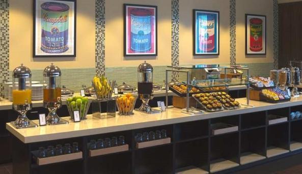 Hilton Albany Breakfast Area