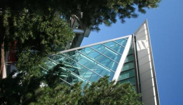 Buffalo Niagara International Airport Corner Glass View