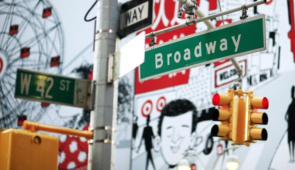 Broadway Street Sign _ - Photo by Joe Buglewicz - Courtesy of NYC & CO