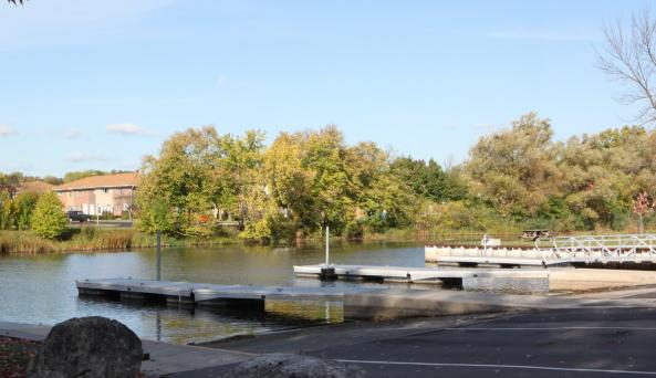 The boat launch at Canandaigua Lake Marine Park