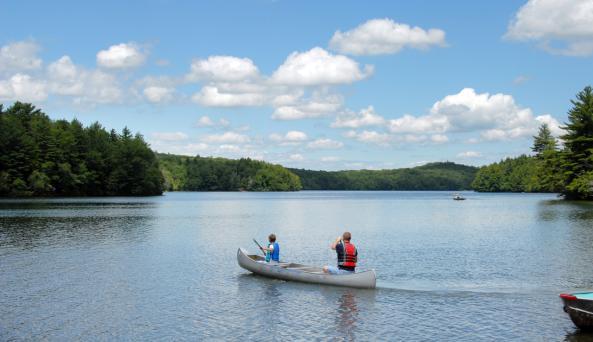 Canoeing at Grafton Lakes State Park