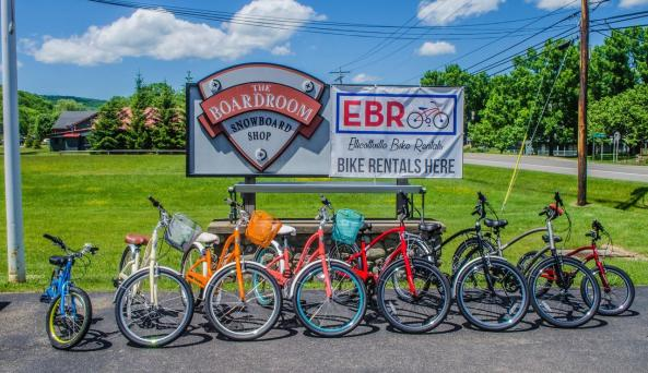 Bikes in front of the shop