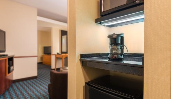 Guest Room Fridge & Microwave