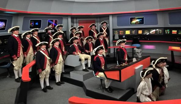 Young Fife-and-drum Corps members on Bridget Set