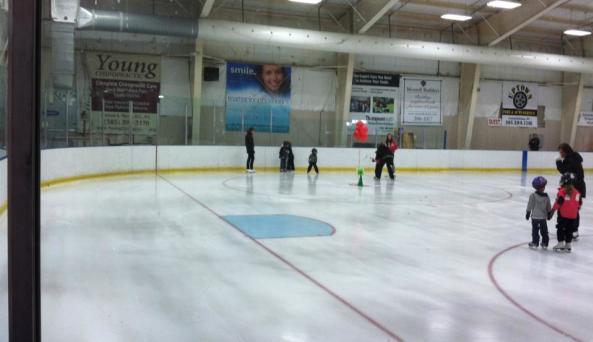 Enjoying an afternoon of ice skating
