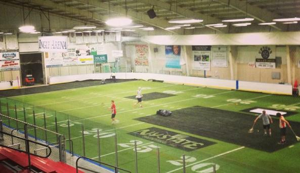 The turf field at the Greater Canandaigua Civic Center