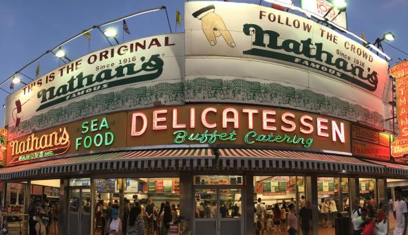 Nathan's Famous, Coney Island, NY