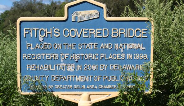 Fitch's Covered Bridge Sign