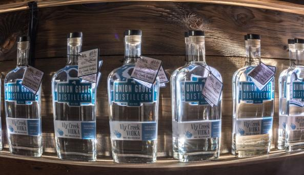 Union Grove Distillery - bottles - Photo by Michael Wentland Photography - Courtesy of Union Grove D