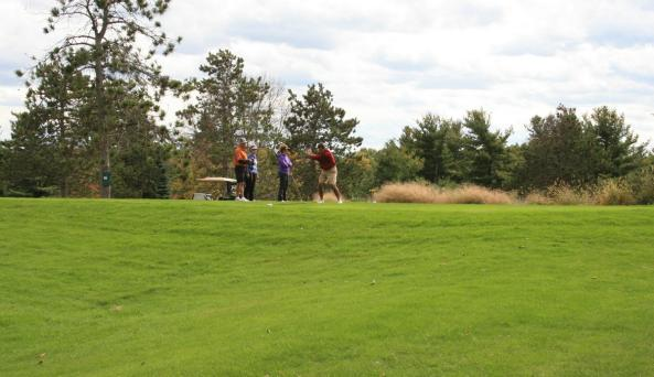 Teeing off at Winged Pheasant