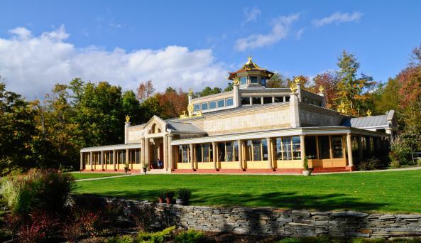 World Peace Temple in Fall - Photo Courtesy of Kadampa Meditation Center