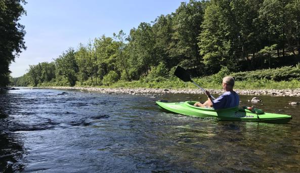 Kayaking at A Tiny House Resort
